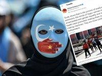 Twitter yönetimi Çin'in ABD Büyükelçiliği tarafından paylaşılan mesajı sildi.