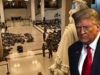 Trump için azil süreci işliyor, Meclis onayladı,Ulusal Muhafızlar Kongre binasına yerleşti