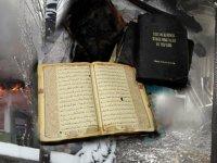 Maraş'ta tamamen yanıp küle dönen camide Kur'an'ı Kerimler zarar görmedi