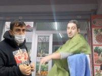 Esenyurt'ta bir berber çiğköfteciden kendi dükkanına gizli geçit açıp müşteri aldı