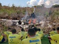 Brezilya'da kulüp başkanı ve futbolcuları taşıyan uçak düştü, uçaktakilerin tamamı öldü