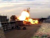 El Bab'ta korkunç patlama: 1 kişi öldü 2'si Türk TIR şoförü 4 kişi yaralandı (Video)