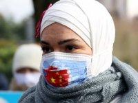 Belçika'da Çin'e Doğu Türkistan protestosu