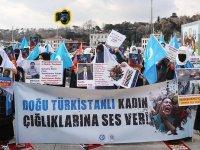 'Doğu Türkistanlı kadın çığlıklarına ses ver!'