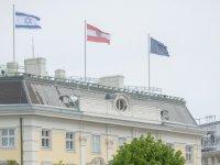 """Avusturya'da Başbakanlık binasına İsrail bayrağı çekilsi: Israil'e """"yanınızdayız"""" mesajı verildi"""
