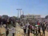 Filistin'e destek için Ürdünlüler sınırı geçerek Filistin topraklarına girdi