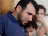 Gazze'de kızlarını bombalardan teskin eden baba bombardımanda hayatını kaybetti